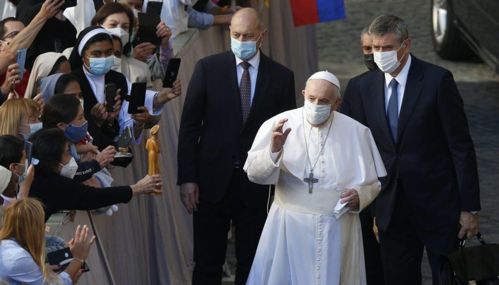papa francisco en la audiencia